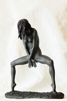 frau,akt,schwarz,22x18cm,figur,,erotik,frauenakt,Nude woman,
