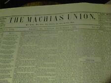 1881 The Machias Union newspaper December 6, 13, 20, 27 Maine