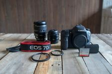 Canon Eos 7D 18.0Mp Digital Slr Camera with 28-135mm Zoom Lens & 50mm Prime Lens