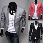 2015 New Stylish Men's Casual Slim Fit Two Button Suit Blazer Coat Jacket Tops
