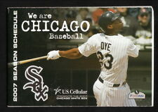 Jermaine Dye--Chicago White Sox--2007 Pocket Schedule--Dominick's