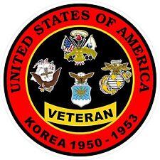 UNITED STATES Army Marine Air Force Navy Korea War VETERAN Decal Sticker