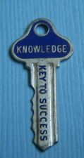 to Success sterling charm Vintage Beau enamel Knowledge Key