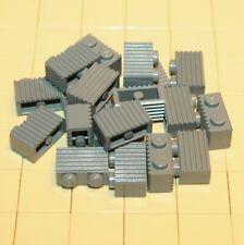 stecker im Edge NEW 2 x LEGO 6179 Platte glatt flach Fliese 4x4 dunkelgrau