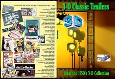 3-D Classic 1950 Movie trailers DVD Limited Edition 35mm 16mm film Intermission