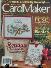 Card Maker Winter 2016 Holiday Cards & More Die Cutting Basics FREE SHIPPING sb