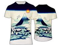 NEW HOKUSAI JAPAN ART PRINT THE CRANES PATTERN T-SHIRT UK SIZES REGULAR FIT