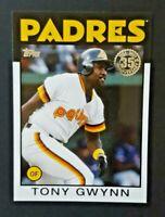 2021 Topps Series 1 1986 Insert #86B-77 Tony Gwynn San Diego Padres