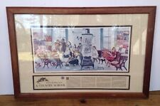 Norman Rockwell Visits A Country School Framed News Article Authorized Reproduct