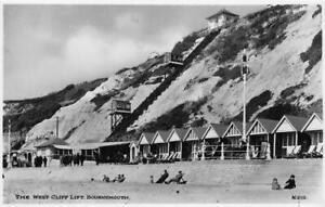 RPPC The West Cliff Lift, Bournemouth, Dorset, England ca 1920s Vintage Postcard