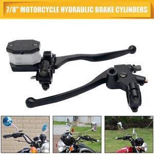22mm Motorcycle Handlebars Left Brake Clutch Lever Master Cylinder Reservoir UK