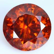 4.13CTS Natural Round Orange Sphalerite Spain Loose Gemstone With Free Shipping.