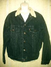 Levi Strauss Denim Jean   Jacket  Black Made in USA Size XL