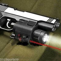 Tactical Combo CREE LED Flashlight Red Laser Sight Fit For Pistol Gun Glock New