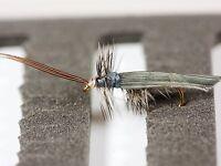 SILVER SILVERHORN CADDIS SEDGE Dry Trout Fishing Flies various options