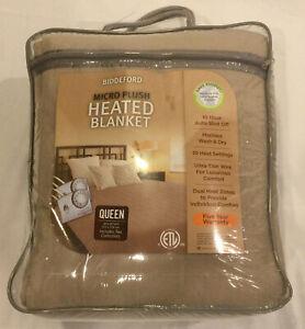 NEW Biddeford Micro Plush Heated Blanket w/ Auto Shutoff TWIN SIZE