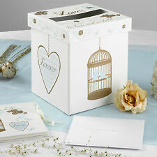 To Have and To Hold POSTING BOX Birds Receiving Post Mail Card Wedding & Vintage