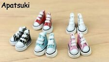 6Pair/lot 3.5cm Canva Shoes For Blythe Dolls Causal Shoes For Barbie Doll Toy1:6