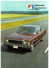 American Motors AMC Ambassador 1973 UK Market Foldout Sales Brochure