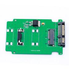 """5cm Mini PCI-E SSD de MSATA a 2.5"""" 7+15 22pin Tarjeta Adaptadora Sata & PCB 9.8X6.5CM Cg"""