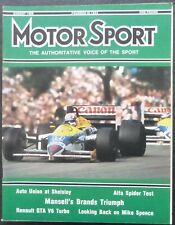 Revista Motor Sport -Vol LXII-No.08-1986-London,August-The Teesdale Publishing