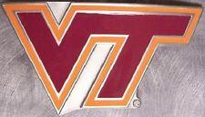 NCAA Pewter Belt Buckle Virginia Polytechnic Institute University Hokies NEW