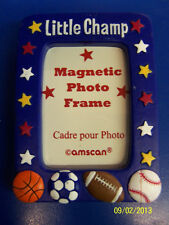 Little Champs All Star Sports Birthday Party Favor Photo Magnetic Picture Frame