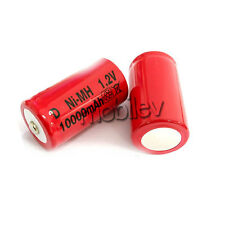 16 x D Rechargeable Ni-MH 1.2V 10000mAh Battery RED M1