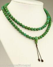 Mala en tibétain Turquoise élégante Turchese Perles (8mm) Tibet Rosario 52a