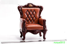 """1/6th Custom Brown Sofa Version A Model Boss Chair Toy F 12"""" Figures Furniture"""