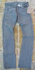 RRL Ralph Lauren USA 29X32 Men $360 NWT Selvedge Jean Straight Slim Boot Gray