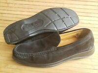 Men size 10.5 Cole Haan dress driving loafers suede leather black air casual