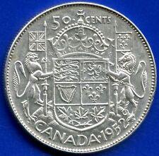 "1952 Canada Silver 50 Cents ""Wide Date"" 11.66 Grams .800 Silver"
