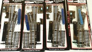 (4) Atlas Code 100 #4 Nickel Silver Remote Control Switches / Turnouts