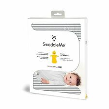 SwaddleMe Wiggle Blanket Small 2-7 Months Grey Stripe - New In Pack