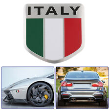 Car Italy Flag Italian Logo Emblem Shield Shaped Stickers Fender Tank Badge