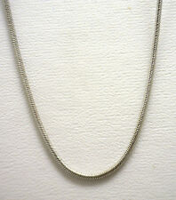 "14KWG 18.5"" Snake Style (Pendant) Chain, New from Liquidation, Made In Italy"