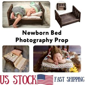 Newborn Baby Mini Wood Bed Detachable Wooden Photography Photo Prop For Shoot