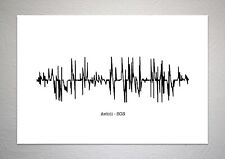 Avicii - SOS - Sound Wave Print Poster Art