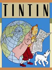 "18x24""Decoration Canvas.Interior design Art.Tin dog.French.Tintin the news.6397"