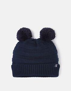 Joules Baby Boys Pom Pom Knitted Hat - French Navy - 6M-12M