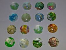 12MM Mixed World Maps Glass Cabochons Dome Flatback Half Round NEW 20PCS. DIY