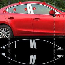 For Mazda 3 Axela Sedan 17-19 Stainless Door Window Frame Sill Molding Trim 14p