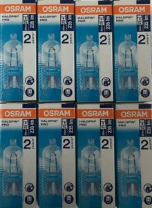 Pack of 8 Osram 20W = 25W G9 2pin Halopin Halogen Capsule Clear Dimmable bulb