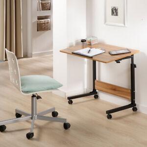 Schreibtisch mit Rollen höhenverstellbar Beistelltisch Pflegetisch Laptoptisch