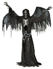 "Halloween LifeSize Animated ANGEL OF DEATH Animatronic 7'6"" Prop Haunted House"
