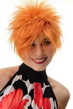 Women's Wig short Backcombed Wild Strands 80er Wave Punk Orange BLUE144