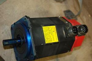 Fanuc, A06B-0313-B504 #0008, 2000RPM, 127V, 3PH, 8 Poles, Servo Motor