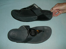Fit Flop flip flops sandals womens shoes Sz 9 black with shiny strap