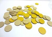 Vintage Retro Composite Tan Yellow Poker Chips Gambling Markers